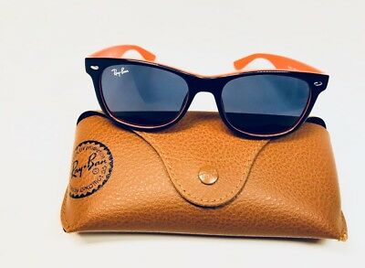 310a5081f67 New Ray Ban Junior KIDS RJ9052S 178 80 Blue   Orange Sunglasses 47mm with  Case