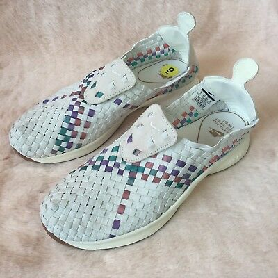 new product 8b11d 205a4 NIKE AIR WOVEN White Sail-Red-Orchid Mist Womens Running Shoes Sz 9