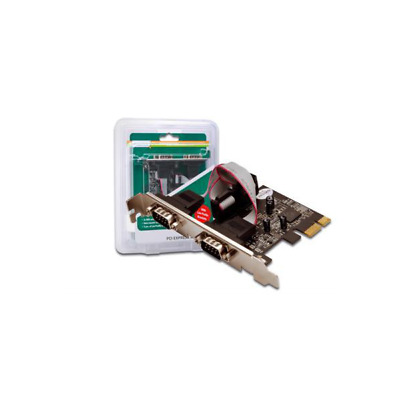 DIGITUS DS-30000-1 2 x DB9 M Internal Serial interface cards/adapter PCIe