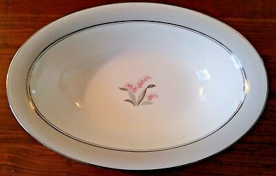 Noritake China - Lilybell 5556 - Oval Serving Bowl - 10.5 inch