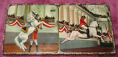 Set of 6 LIPIZZAN HORSES COASTERS Beautiful with BOX!
