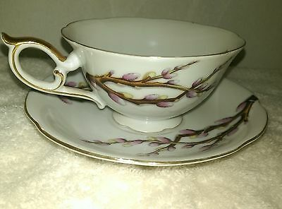 Vintage Pussy Willow Tea Coffee Cup And Saucer Set Nw 3/531
