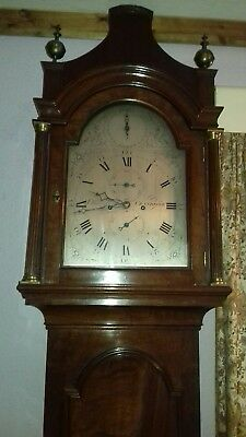 Beautiful London Mahogany pagoda eight day longcase clock