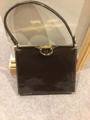 Genuine Vintage Jane Shilton Patent Leather Handbag
