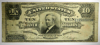 1891 $10 Silver Certificate ~ Tombstone ~ Priced Right!