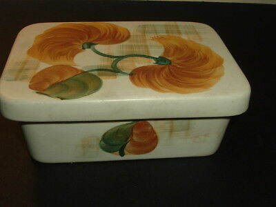 Radford floral hand painted butter  dish