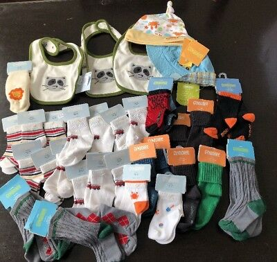 Huge Nwt Gymboree Wholesale Lot Boys Socks Bibs Hats