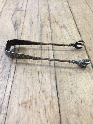 "STERLING SILVER SUGAR ICE CLAW TONGS .925 5"" Tiffany Reed Gorham"