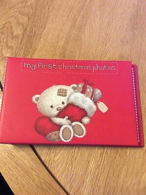 """my First Christmas Photos"" Red Album"