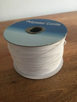 10m High Quality Polyester Heavy Duty 1mm Wide Roman Blinds Cord