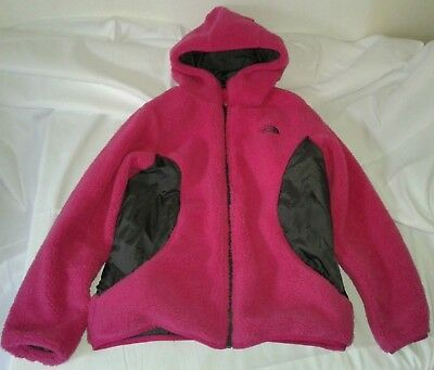 d351a142b THE NORTH FACE Reversible Jacket Fleece Girl's Youth Large 14/16 Pink Gray