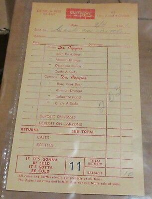 Three 1941 Dr Pepper - Drink A Bite To Eat - Soda Order Receipts