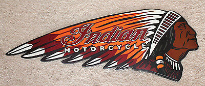 indian motorcycle vintage style metal tin signs scout harley man