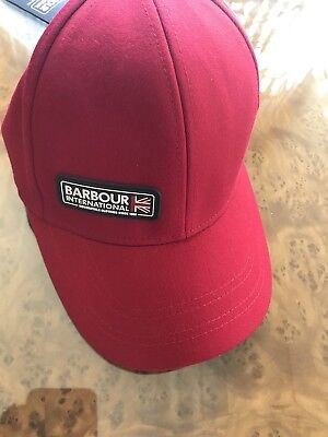 Brand New Barbour International Cap Red One Size