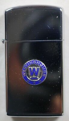 Vintage 1960 Zippo Advertising Westinghouse Research Labs Small Size Lighter