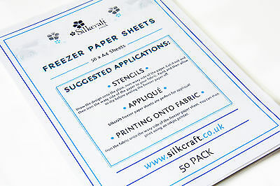 Silkcraft Freezer Paper Sheets x 50 - A4 -SIZE BARGAIN