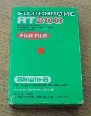 Fujichrome Single 8 RT200 8mm Cine Film Sealed Unopened, Expired April 1978