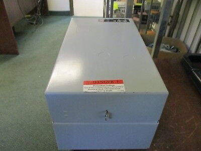 GE Enclosed Lighting Contactor CR360ML208AA 110-120V Coil 20A Used