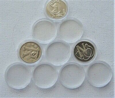 Coin Capsules  25 mm[ 10 pence ]10, 20 , 50 ,100 capsules  SMOOTH EDGE !