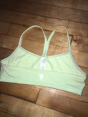Ivivva By Lululemon Girls Green Drill Sports Bra Size 12
