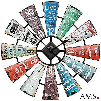 AMS 50 XXL Wall Clock Quartz Metal Housing Office Watch Ø 70 cm/202