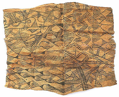 Textile weave antique tribal African Africa Congo Tapa 1950