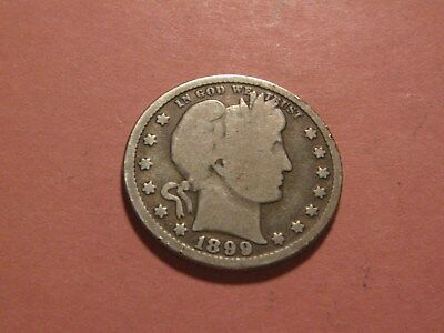 1899 Barber Quarter Up For Auction (Circulated Coin - You Decide)