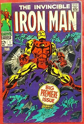 IRONMAN 1 MARVEL SILVER AGE 1968 Big Premiere Issue fn