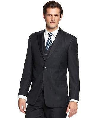 Tommy 2020 Men's Navy Tonal Stripe Classic-Fit Suit