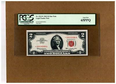 $2.00 FR#1513 LEGAL TENDER STAR NOTE~PCGS-65PPQ(ONE of ONLY 640,000)