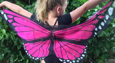 AUST Hot Pink Butterfly Wings Costume Dressup KIDS CHILD New cosplay Soft NEW