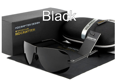 HDCrafter Round Polarized Driving Sunglasses Retro UV 400 Outdoor Mens Glasses