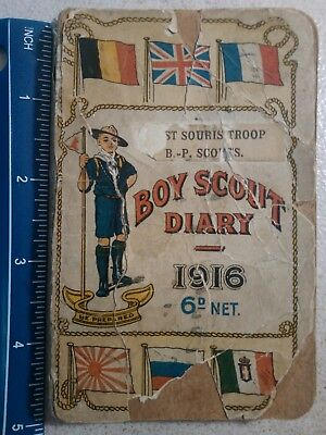 1916 Brown's B.-P. Boy Scouts' Diary - Delicate Condition - Scarce