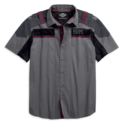 Harley-Davidson Harley-Davidson Men's Performance Vented Chest Stipe Shirt