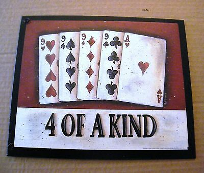 FULL HOUSE Casino Bingo Texas Hold'em chips cards Blackjack Gambling Poker SIGN