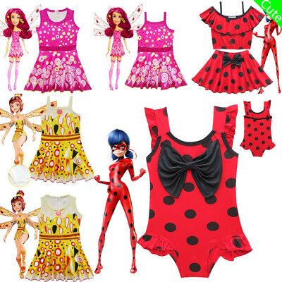 Girls Baby Kids Cartoon Characters Beachwear Tankini Swimming Costume Monokini