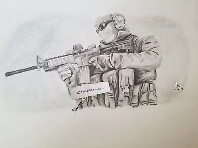 Ghost from Call of Duty: Modern Warfare 2 Drawing in Graphite, drawn by me