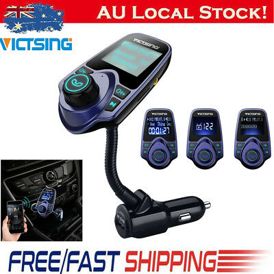 VicTsing Bluetooth MP3 Player FM Transmitter Handsfree Car for iPhone Samsung