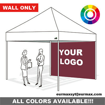 EZ Pop Up Canopy Tent 10X10 Custom LOGO Graphic Printed Back Side Wall Panel