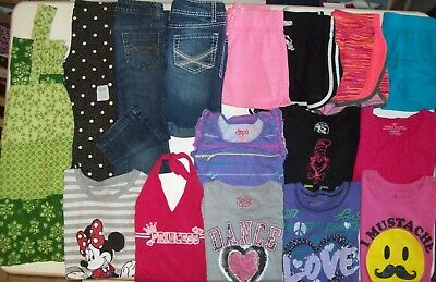 Girls clothes lot size 7 Girls summer clothes size 7 Old Navy Justice Disney