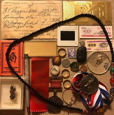 Old Antique Vintage Junk Drawer Estate Lot Coin Stamp Gold Collectible Jewelry 2