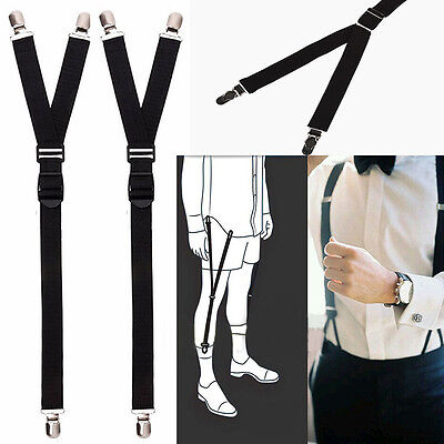 2pcs  Military Luxury Y Style Shirt Holders Uniform Shirt Stay Keeper Garter.AU