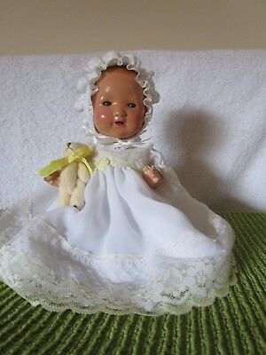 Sprayed Bisque Head German Baby 1920's 12 Inches