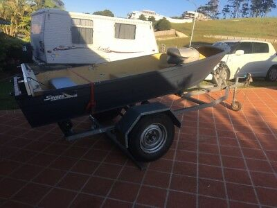 12ft tinnie and trailer