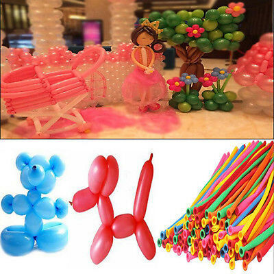 10-100 Magic Long Balloons Assorted Colour Twist Making Animals Latex Balloons
