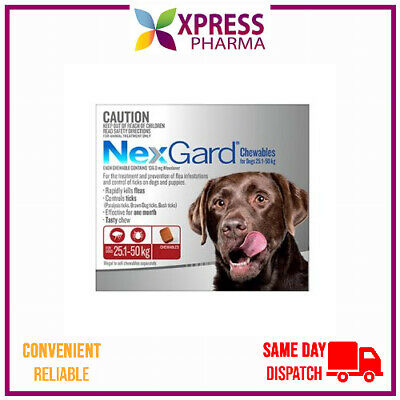 NEXGARD Flea and Tick treatment Large Dogs 25.1 to 50 kgs