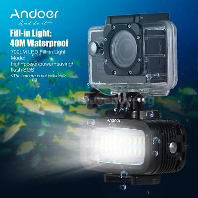 Andoer700LM LED Diving Video Fill-in Light Lamp Waterproof for GoPro Xiaomi B0X6