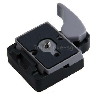 Camera 323 Tripod Quick Release Clamp Screw Adapter Mount +QR Plate For DSLR SLR