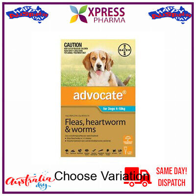 Advocate Allwormer and Flea for Dogs Medium 4 to 10 kgs wormer NEW STOCK XPRESS