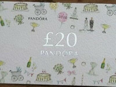 PANDORA VOUCHER Discount card Charm Bracelet discount £20 OFF 24-28th MAY 2018